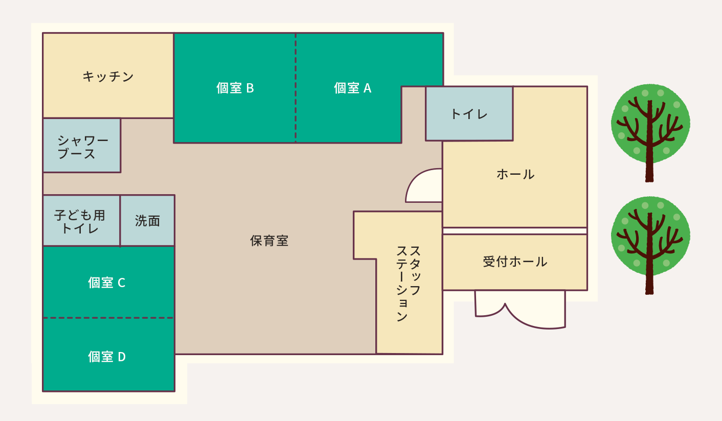 mランド保育園 園内マップ